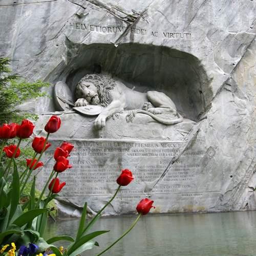 สิงโตหินแกะสลัก ทัวร์สวิตเซอร์แลนด์
