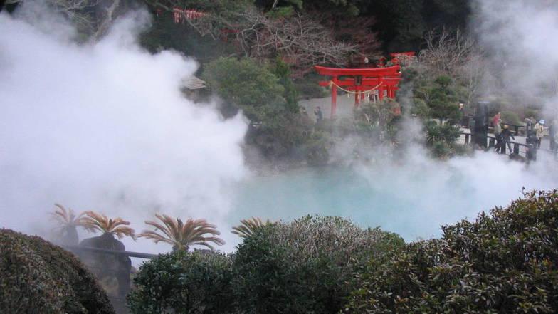บ่อน้ำพุร้อน หรือ บ่อทะเลเดือด ยูมิ-จิโกกุ