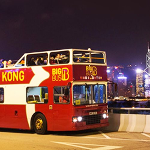 ทัวร์ฮ่องกง ฮ่องกง Open top Bus at Hongkong