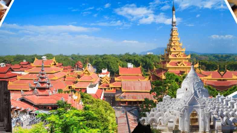 ทัวร์พม่า มัณฑะเลย์ อมรปุระ 3 วัน 2 คืน พระราชวังมัณฑะเลย์ ล่องเรือแม่น้ำอิระวดี บิน Myanmar Airways International