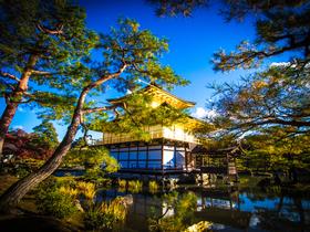 ทัวร์ญี่ปุ่น โอซาก้า เกียวโต 5 วัน 3 คืน  ปราสาททอง ศาลเจ้าพ่อจิ้งจอกขาว บิน XJ  โอซาก้า เกียวโต