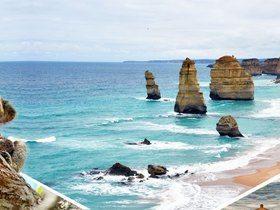 ทัวร์ออสเตรเลีย เมลเบิร์น 5 วัน 3 คืน เสาหินสาวกทั้ง 12 ของพระเจ้า สถานีรถไฟจักรไอน้ำโบราณ บิน  JQ ออสเตรเลีย เที่ยววันหยุด ปิยมหาราช