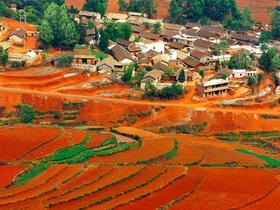 ทัวร์จีน คุณหมิง 5 วัน 4 คืน แผ่นดินสีแดงตงชวน นั่งกระเช้าขึ้นสู่ภูเขาหิมะเจี้ยวจื่อ บิน 8L คุณหมิง