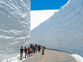 ทัวร์ญี่ปุ่น โอซาก้า ทาคายาม่า 6 วัน 4 คืน กำแพงหิมะบนเทือกเขาเจแปนแอลป์  บิน  XJ  โอซาก้า ทาคายาม่า
