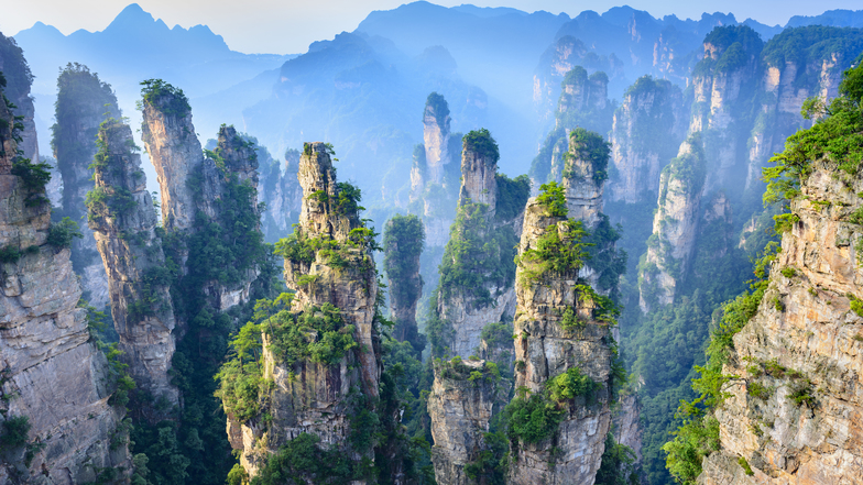 ทัวร์จีน จางเจียเจี้ย 6 วัน 5 คืน อุทยานจางเจียเจี้ย นั่งกระเช้าขึ้นสู่เขาเทียนเหมินซาน บิน Thai AirAsia