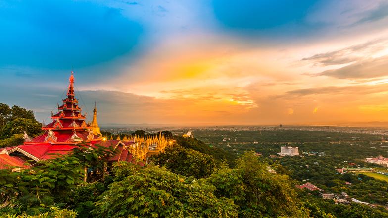 ทัวร์พม่า มัณฑะเลย์ พุกาม อมรปุระ มิงกุน 4 วัน 3 คืน ร่วมพิธีล้างพระพักตร์พระมหามัยมุนี  พระราชวังมัณฑะเลย์ บิน Thai AirAsia